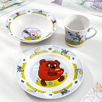 Набор посуды детский «Винни Пух», 3 предмета