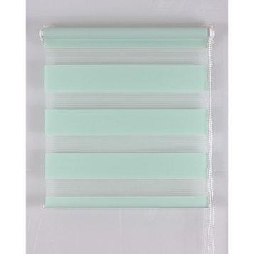 Рулонная штора «День и Ночь», размер 65х160 см, цвет светло-зелёный