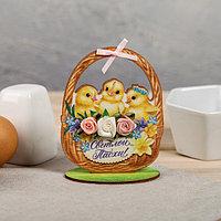 Настольное украшение «Цыплята», 8 × 10 см