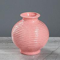 Ваза настольная 'Шарик' розовая, 13 см, керамика