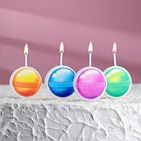 Набор свечей для торта на шпажках 'Леденцы', 6,6х3,8 см, 25 гр, 4 шт