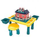 PITUSO Стол для игры с конструктором,в компл. с конструктором(76 эл.) (48,4*30,2*27,2 см) +1 табурет