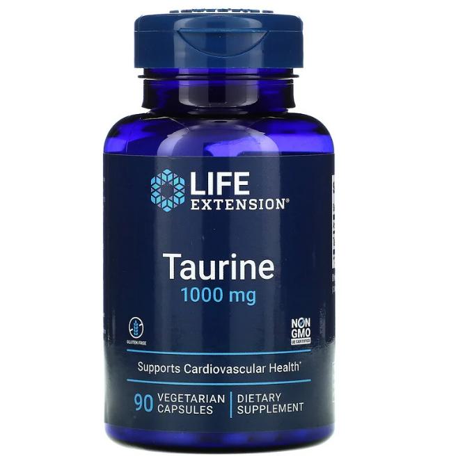 Life Extension, Таурин, 1000 мг, 90 вегетарианских капсул