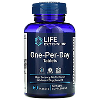 Life Extension, One-Per-Day, 60 таблеток