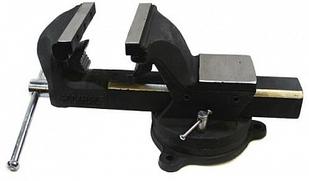 Тиски стальные поворотные с наковальней и захватом для труб 125 мм RockForce RF-6540605