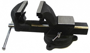 Тиски стальные поворотные с наковальней и захватом для труб 150 мм RockForce RF-6540606