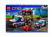 Конструктор Bela Cities Ограбление грузовика транспортировщика 10658 аналог Lego City 60143