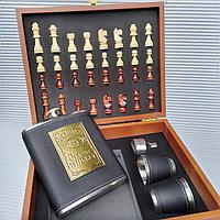 """Подарочный набор """"Jack Danices"""":  """"Шахматы"""" +  фляжка со стопками., фото 1"""
