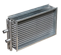 Прямоугольный водяной канальный калорифер ВОП 600х350/2 к