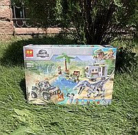 Конструктор Lari Dinosaur World 11335 Поединок в бариониксом аналог Лего Парк Юрского периода Динозавры