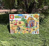 Конструктор аналог Лего зомби против растений