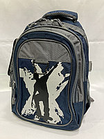 Школьный рюкзак для мальчика, 1-й класс. Высота 38 см, ширина 26 см, глубина 15 см., фото 1
