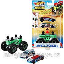 Набор машинок Hot Wheels Monster trucks Создатель монстров зеленый