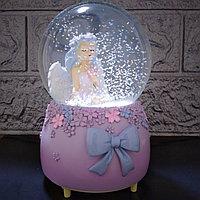 """Музыкальный снежный шар """"Девушка в цветах"""", 16см., фото 1"""