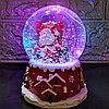 """Музыкальный снежный шар """"Дед Мороз с подарками"""", 12см."""
