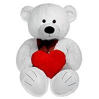 Мягкая игрушка «Мишка Труди с сердцем» 80 см белый