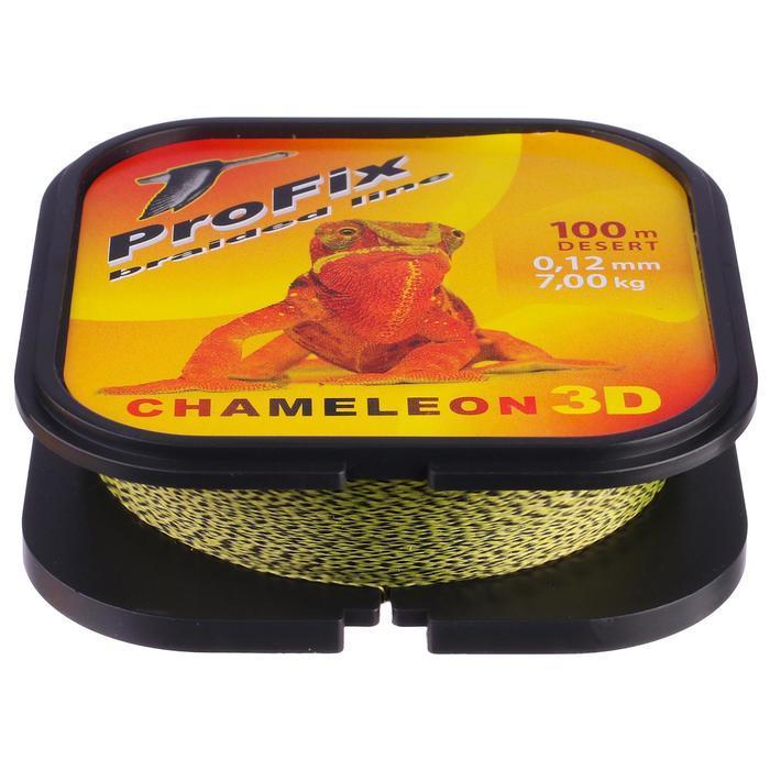 Леска плетёная Aqua ProFix Chameleon 3D Desert, d=0,12 мм, 100 м, нагрузка 7,0 кг