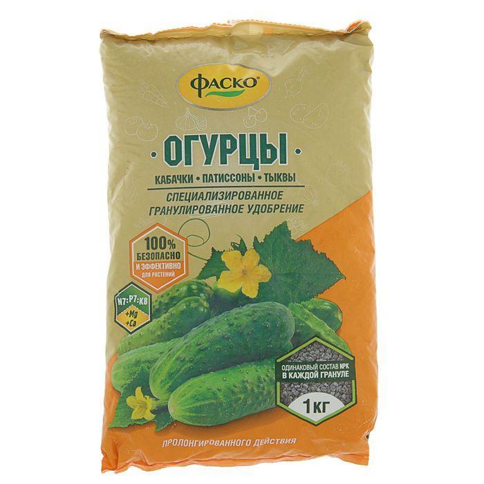 Удобрение минеральное сухое Фаско, гранулированное, Огурцы, 1 кг