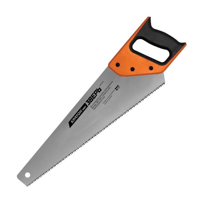 """Ножовка """"Кратон"""" HOBBY 2 03 01 017, 450 мм, шаг 7 мм, 2-гранные закаленные ТВЧ зубья"""