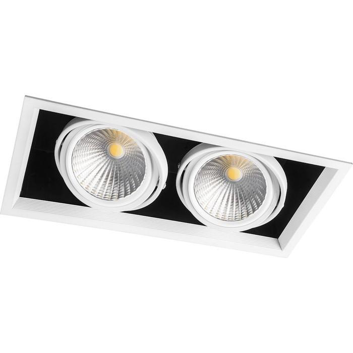 Встраиваемый светодиодный светильник AL212, 2x30W, 5400 Lm, 4000К, цвет белый
