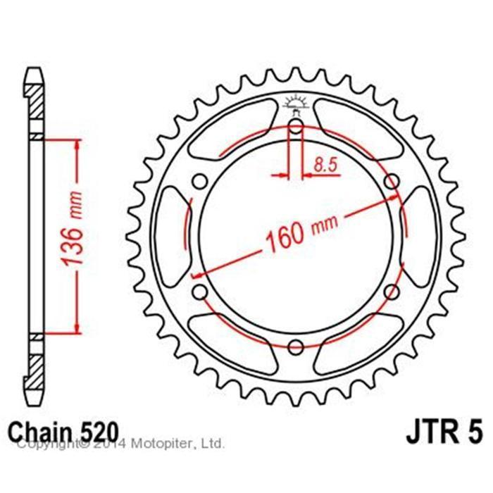 Звезда задняя, ведомая JTR5