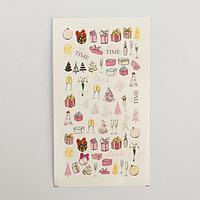"""Слайдеры для ногтей """"Гламурный Новый Год"""" 5,2 × 10 см"""