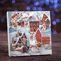 Новогодние салфетки бумажные Fresco 'Домики', 2 слоя, 33*33 см, 20 листов