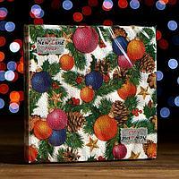 Новогодние салфетки бумажные New Line FRESCO Шишки-Шарики 2 слоя 20 листов 33*33
