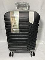 """Маленький пластиковый дорожный чемодан на 4-х колесах """" DELONG"""". Высота 56 см, ширина 35 см, глубина 22 см., фото 1"""