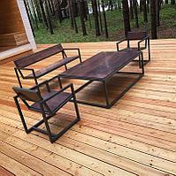 Стол садовый со скамейками