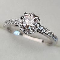 Золотое кольцо с бриллиантами 0,69Сt SI2/M EX-Cut, фото 1