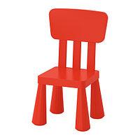 "Стул IKEA ""Маммут"" детский красный"