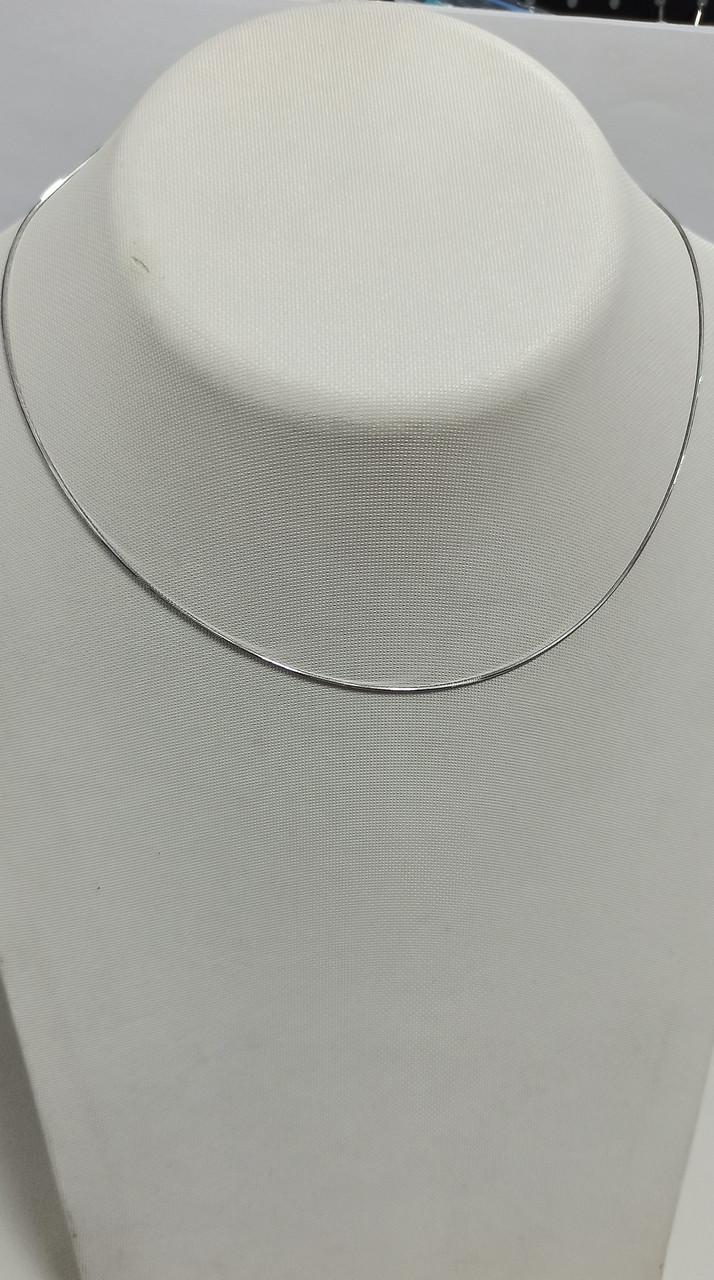 Цепочка серебро. размер 40 см ( снэйк).
