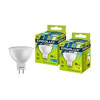 Эл. лампа светодиодная Ergolux JCDR GU5.3/4500K/7Вт, Холодный