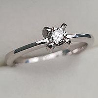 Золотое кольцо с бриллиантами 0.23Сt SI2/J, EX - Cut, фото 1