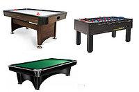 Бильярдные столы, футбол (кикер), аэрохоккей