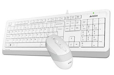 Клавиатура A4Tech Fstyler F1010 + мышь, White, Multimedia,Optical, 1600dpi, USB + мышь