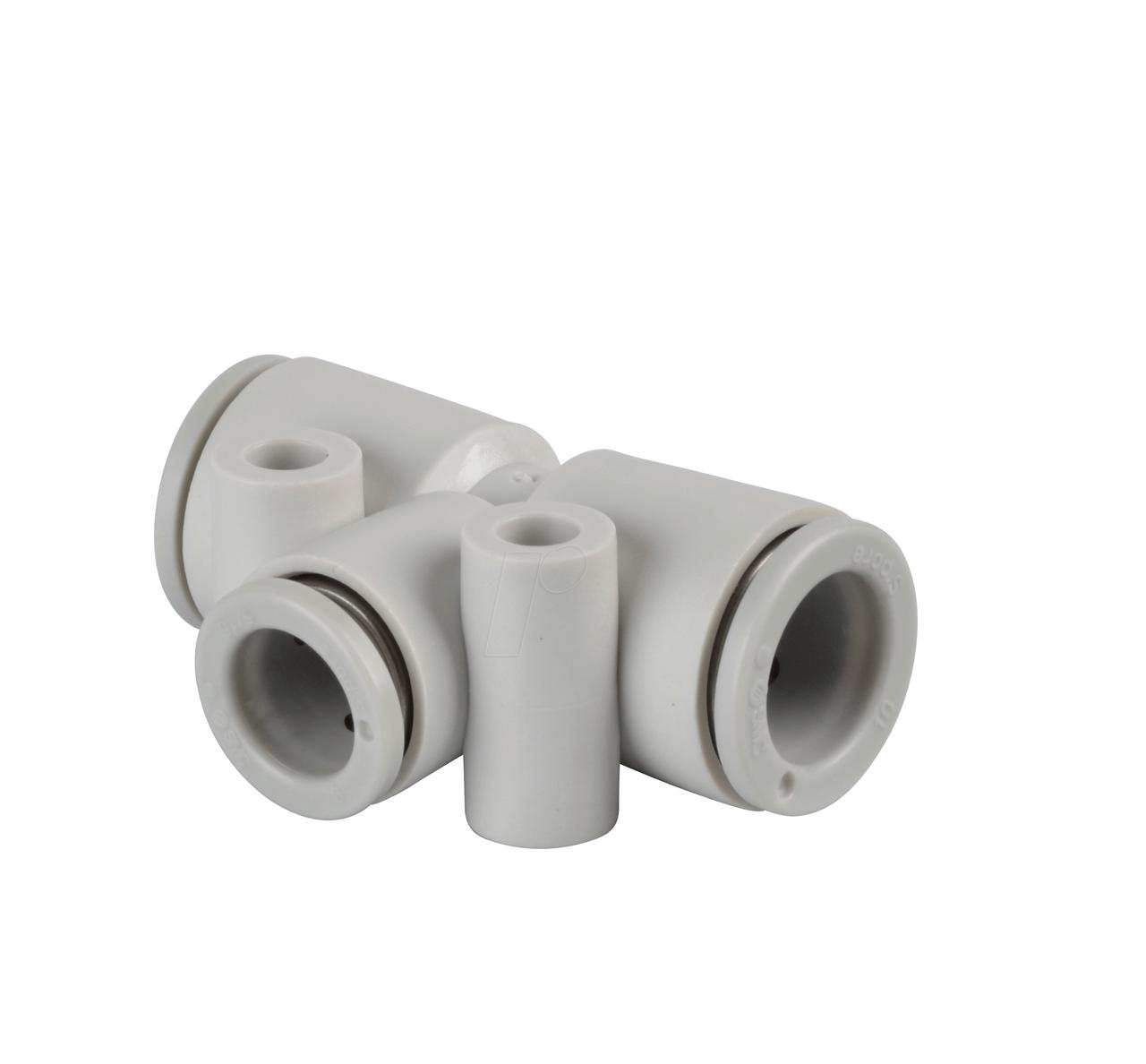 Тройник быстросьемный Т-образный для пневмошлангов 10 мм