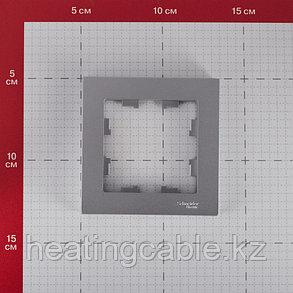 Atlas Design рамка 1-постовая алюминий, фото 2