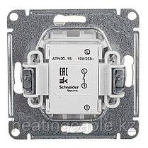 Atlas Design выключатель с самовозвратом, МЕХАНИЗМ ,скрытая установка алюминий, фото 3