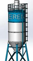 Силос цемента S40 комплектующий на БСУ
