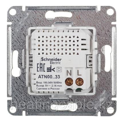 Atlas Design USB розетка А+А, 5В/2,1А,2*5В/1,05А, МЕХАНИЗМ,  скрытая установка карбон, фото 2