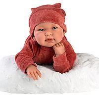 Кукла малышка Тина 44см в терракотовом костюме (LLORENS, Испания)