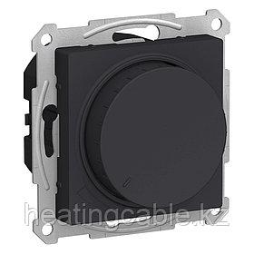 Atlas Design светорегулятор (диммер) поворотно-нажимной LED,RS,315 Вт, МЕХАНИЗМ,  скрытая установка карбон