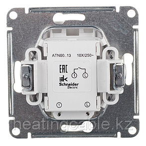 Atlas Design выключатель 1- клавишный с подсветкой, МЕХАНИЗМ, скрытая установка карбон, фото 2