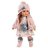 Кукла Николь 35см, шатенка в розовой курточке (LLORENS, Испания)
