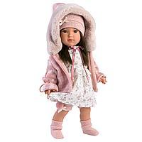 Кукла София 40см, брюнетка в розовой курточке (LLORENS, Испания)
