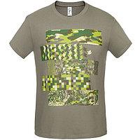 Футболка мужская «Искусство камуфляжа», размер XL, цвет серый