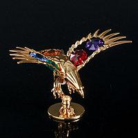 "Сувенир с кристаллами Swarovski ""Орёл"" 11,1х5,2 см"