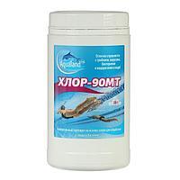 Дезинфицирующие средство Aqualand Хлор-90МТ, таблетки 20 г, 1 кг